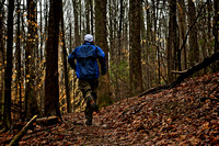 guy trail running