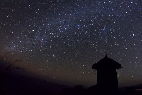 Ethiopian night sky
